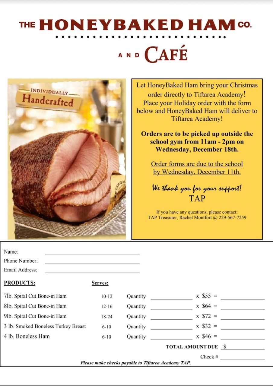 Get your Christmas Ham & Support TA!